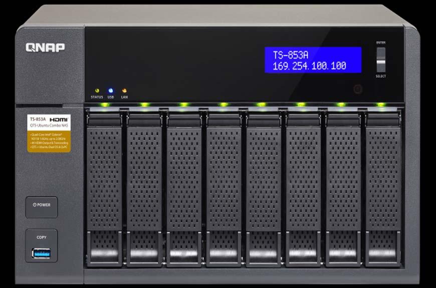 odzyskiwanie danych z QNAP TS-853A